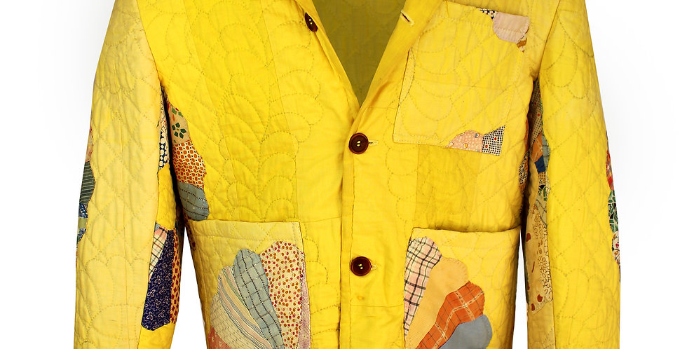 Yellow Dresden Plate Jacket