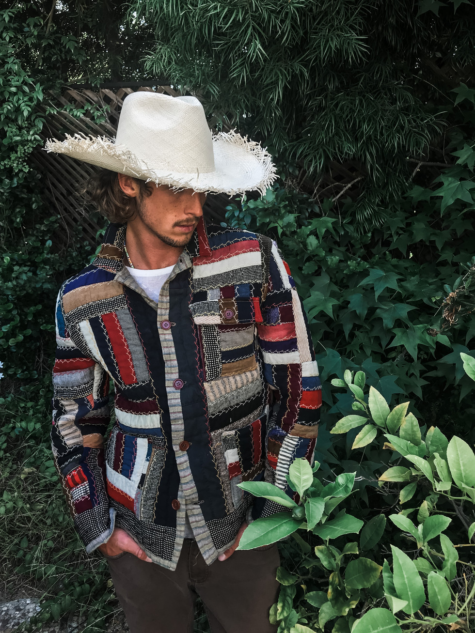 Square Quilt Wool Jacket