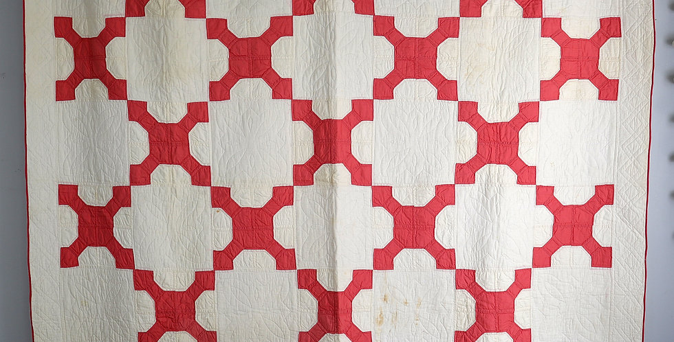 Red and White Bow Tie Quilt