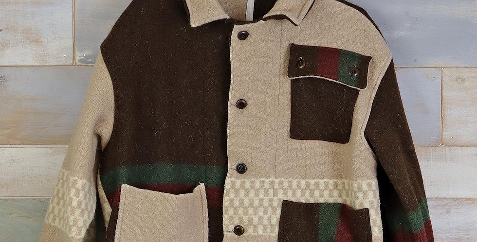 Vintage Wool Camp Colorblock Jacket (M)