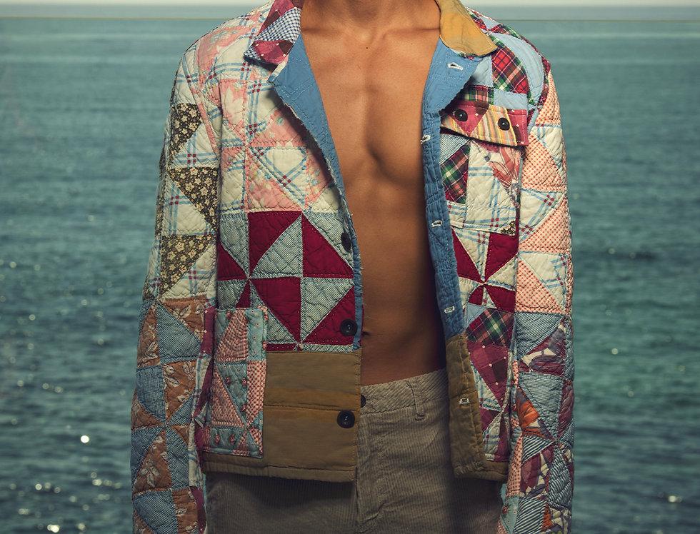 Pinwheel Wild Goose Chase Quilt Jacket (M/L)
