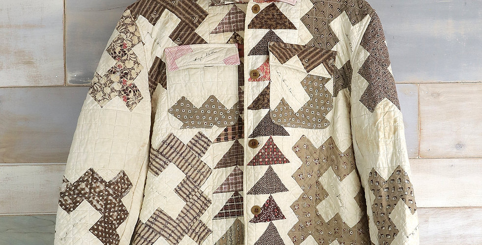 1860 Calico Friendship Quilt Jacket