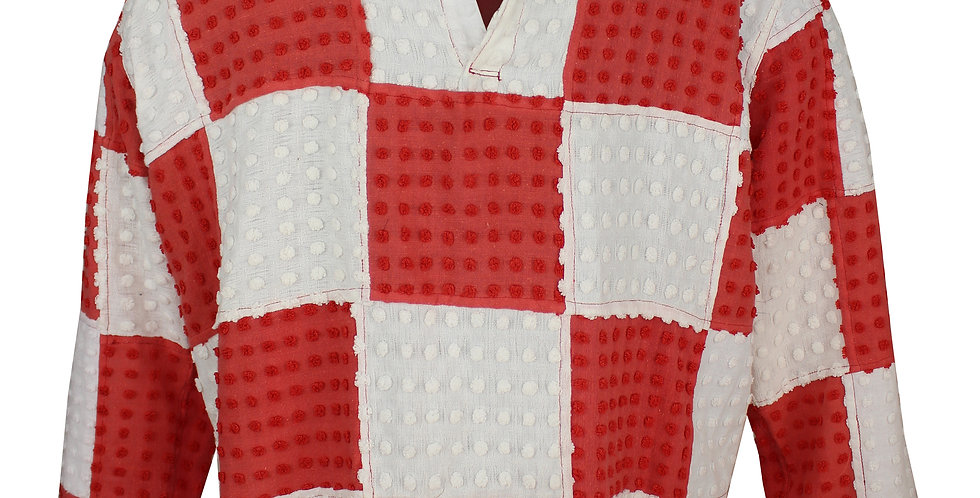 Red and White Rugby Shirt