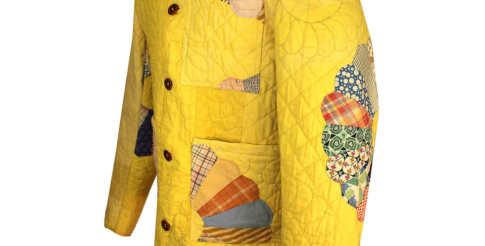 Yellow Dresden Plate Jacket (M)