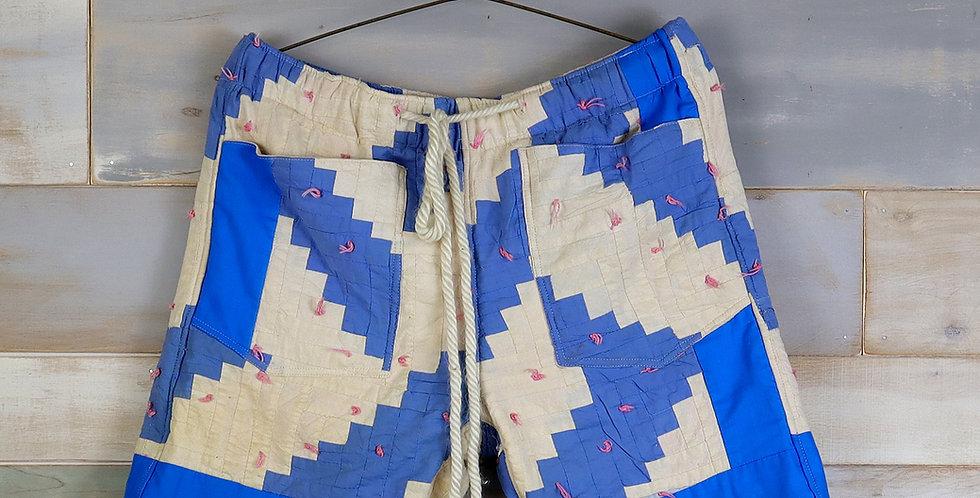 Chevron Stripe Quilt Shorts (M)