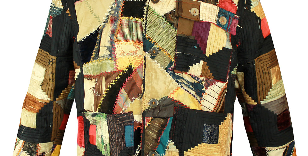 Crazy Log Cabin Quilt Jacket