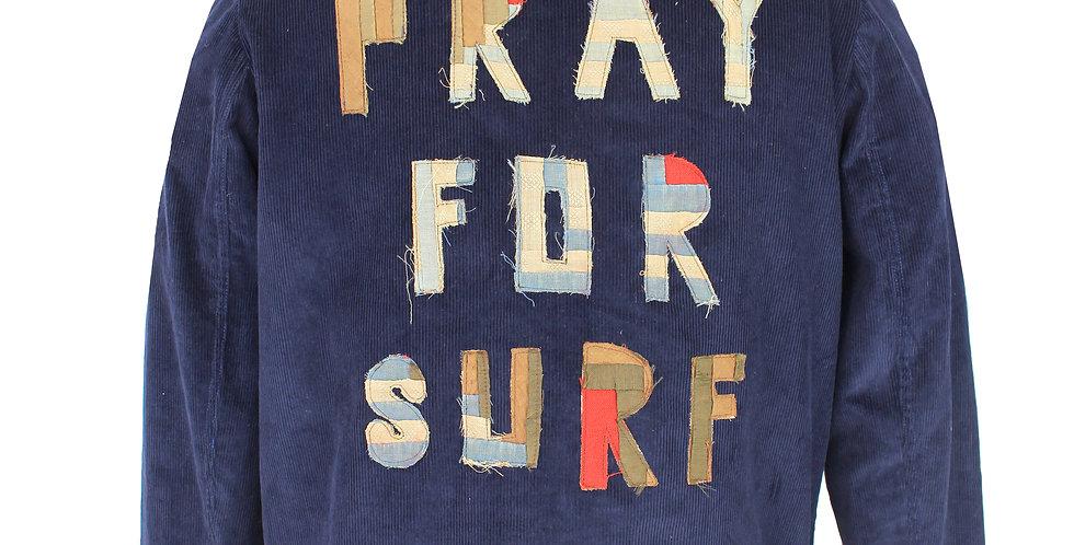 """Corduroy """"Pray for Surf"""" Quilt Appliqué"""