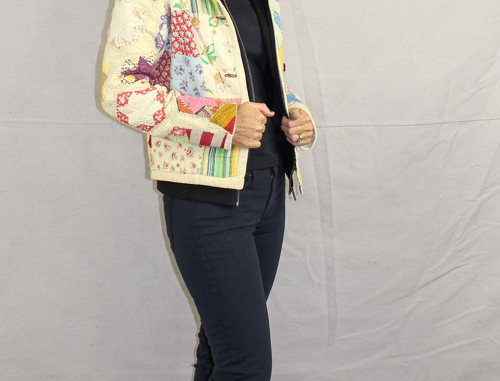 Patched and Six Star Quilt Jacket