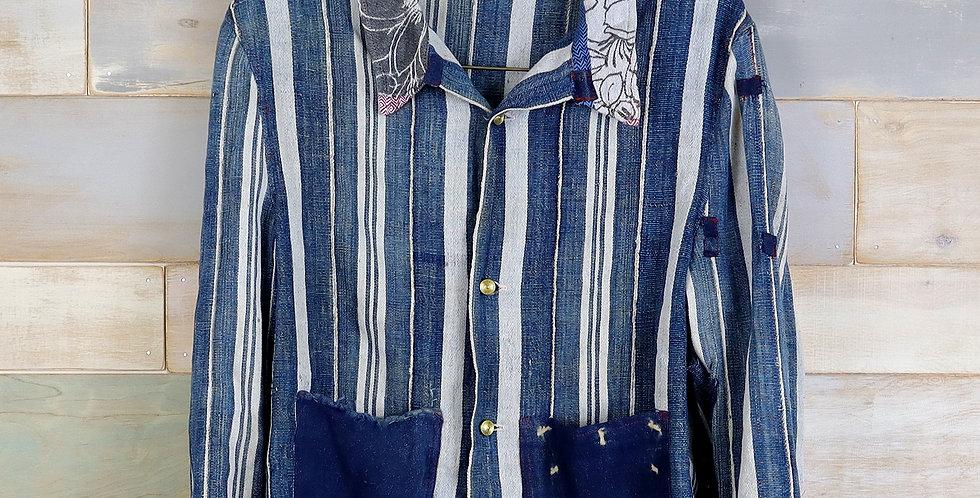 Striped Mud Cloth Overshirt (M)