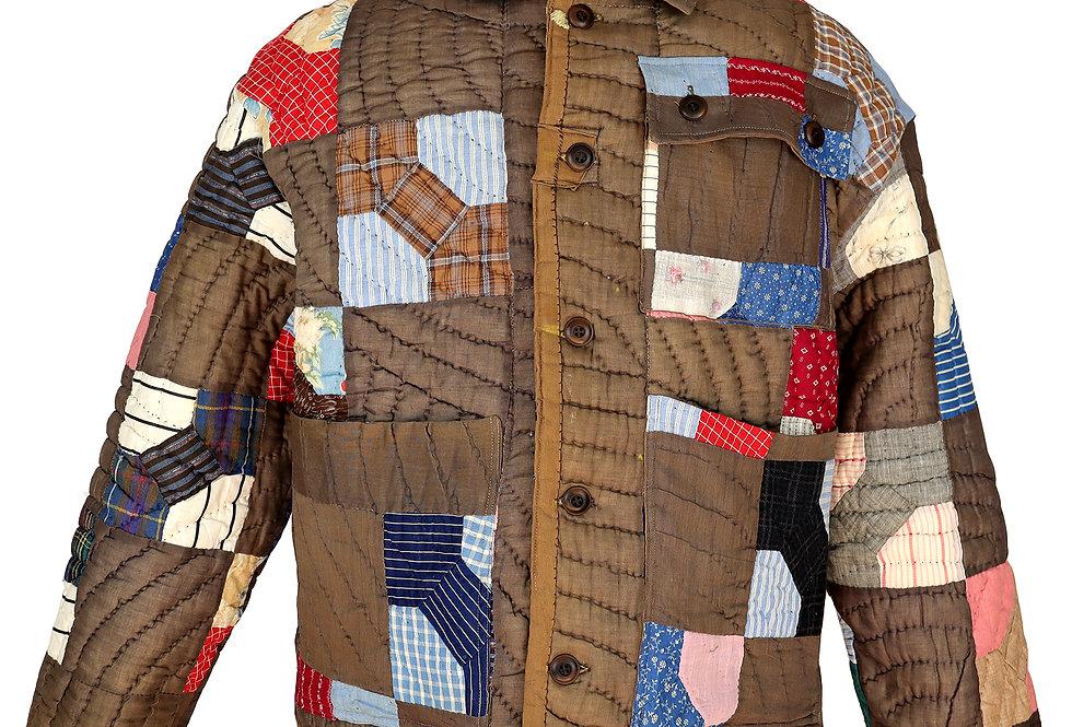 c. 1890 Padukah Bow Tie Quilt Jacket (M/L)