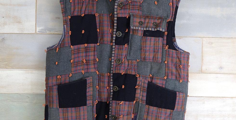1920 Wool Tied Quilt Vest