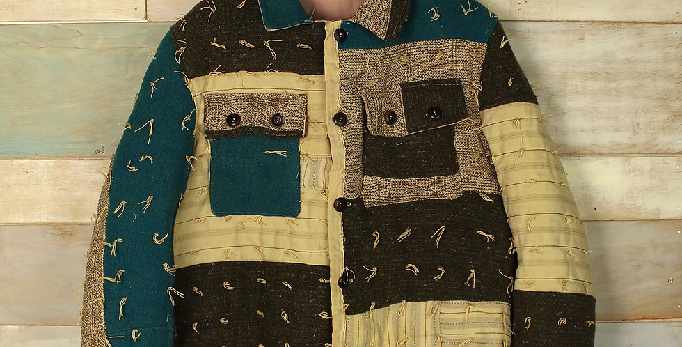 Arkansas Wool Tied Country Quilt Jacket (S/M, M/L)