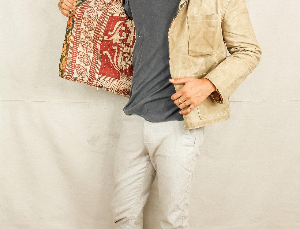 AdventureLess Tan Waxed Jacket (M)