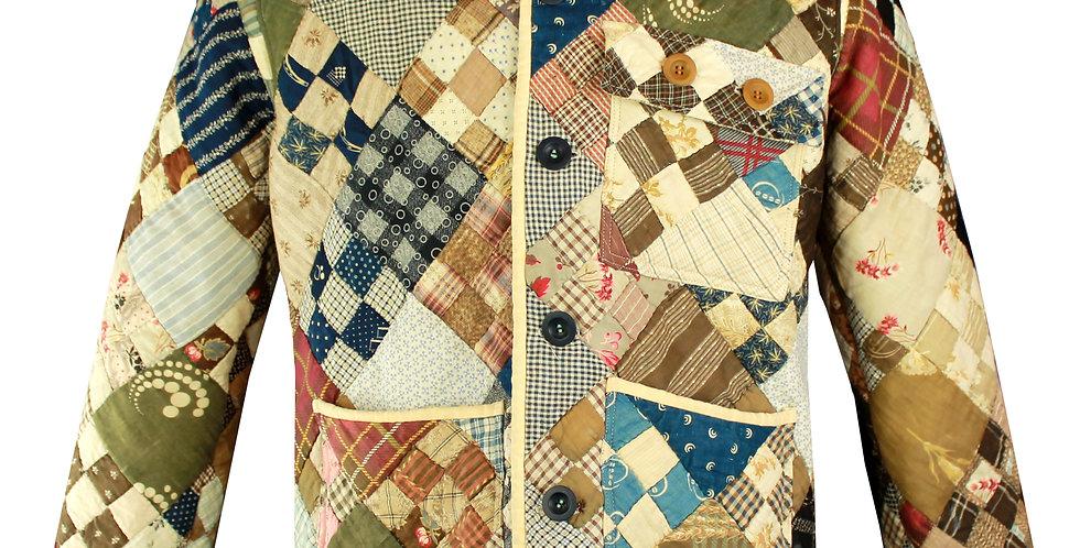 Diagonal Checkerboard Quilt Jacket