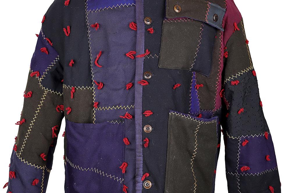 W. Pennsylvania Wool Crazy Quilt Jacket (M, L)