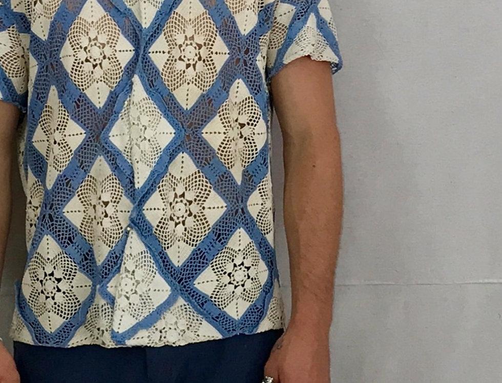Diamond Throw Crochet Shirt
