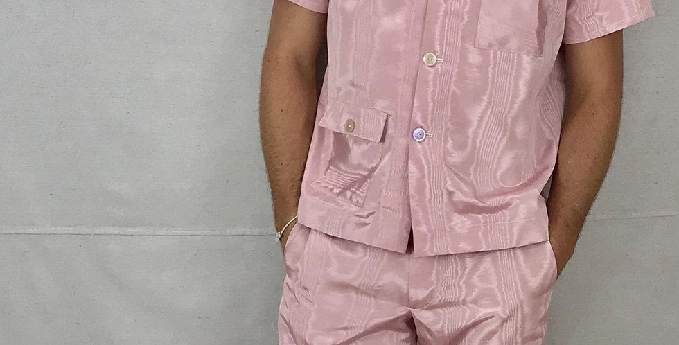 Moire Gros Grain Ribbon Shirt