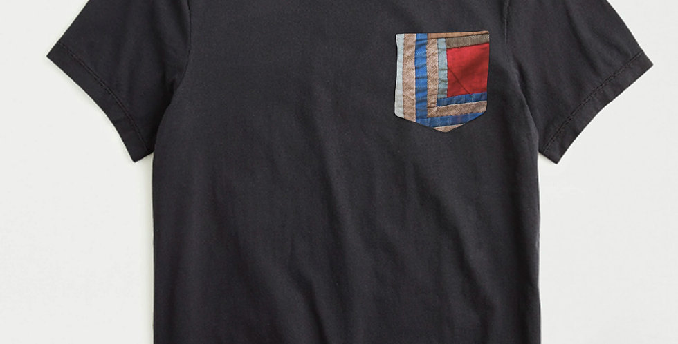 Quilt Piece Casual Pocket T