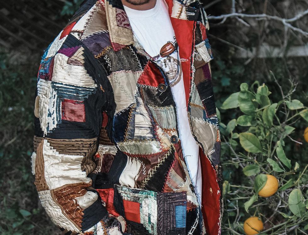 Crazy Log Cabin Quilt Jacket (M)