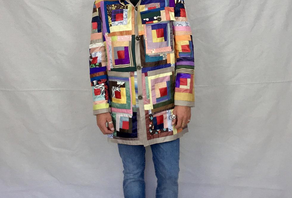 Log Cabin Quilt Jacket(L)