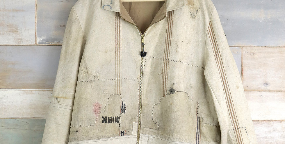 1880's Branded Grain Sack Jacket: John A. Hotchkiss
