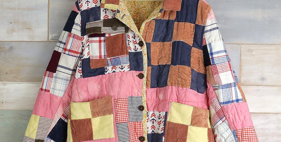 16 Patch Block Patchwork Quilt Jacket