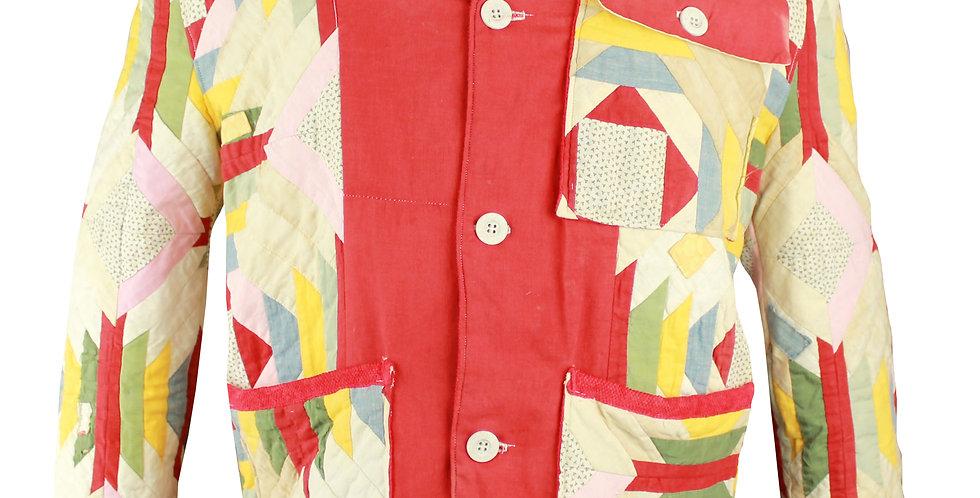 Pineapple Log Cabin Quilt Jacket