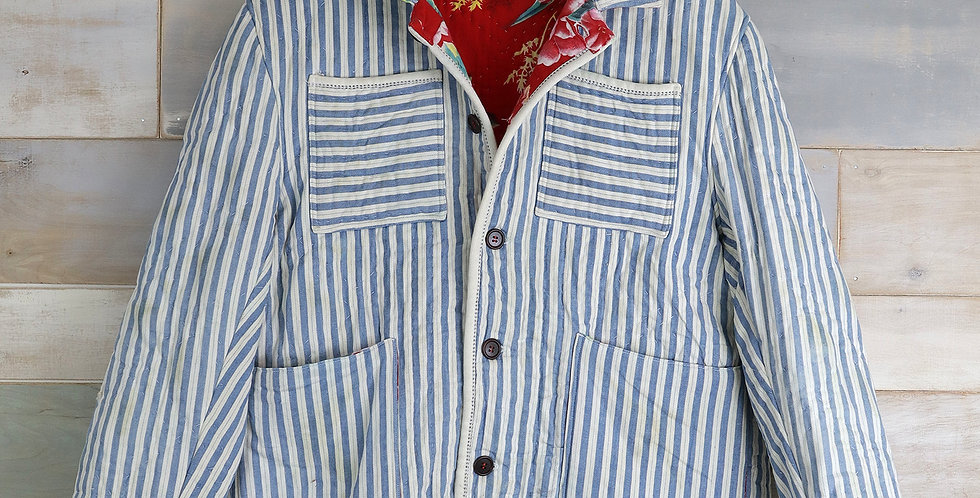 Suffolk County Railroad Striped Quilt Jacket