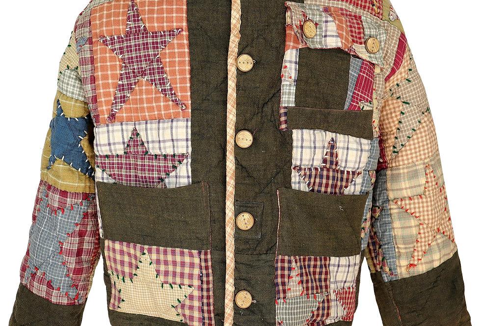 Plaid Star Quilt Jacket (S/M)