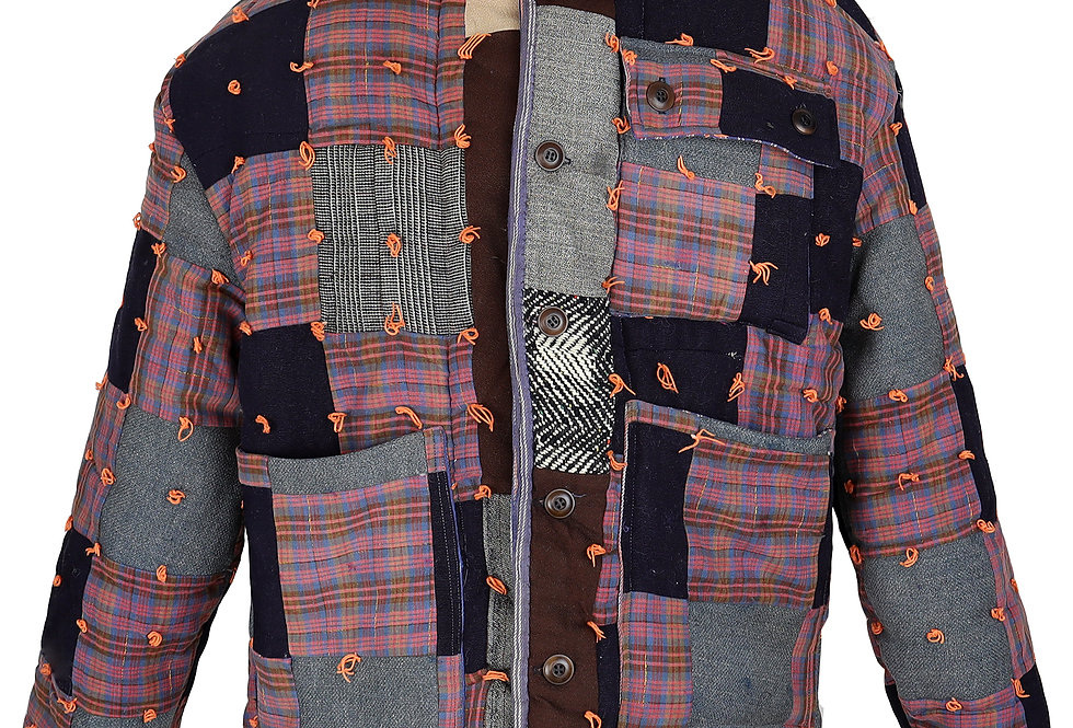 1920 Wool Tied Quilt Jacket