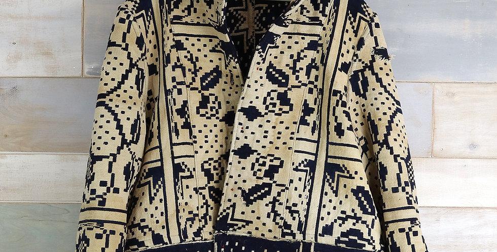 c.1880 Woven Coverlet Jacket