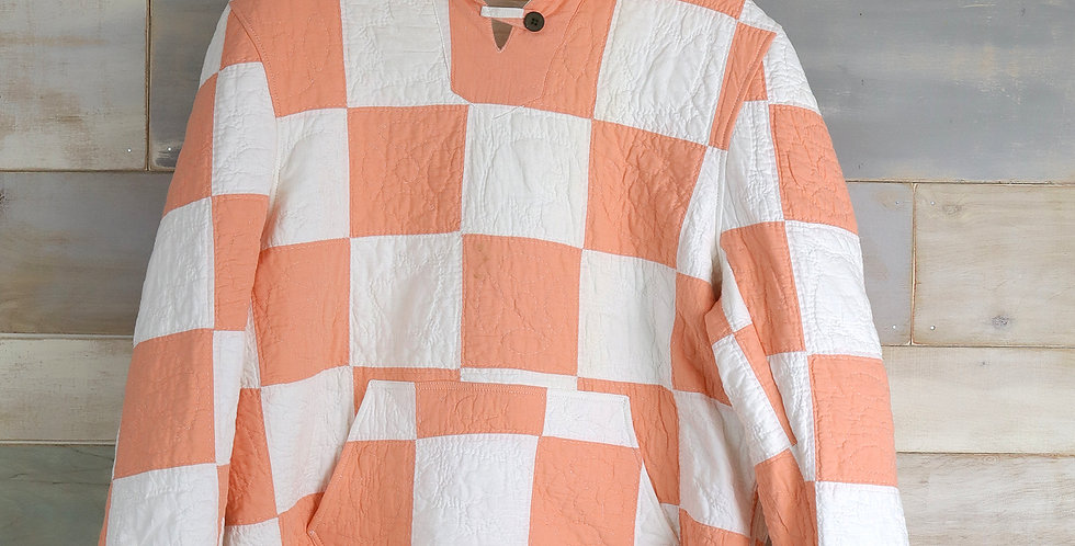 9 Patch Sherbet Quilt Hoodie