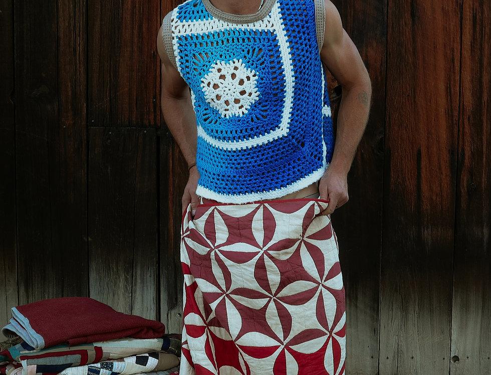 Snowflake Crochet Vest (M)