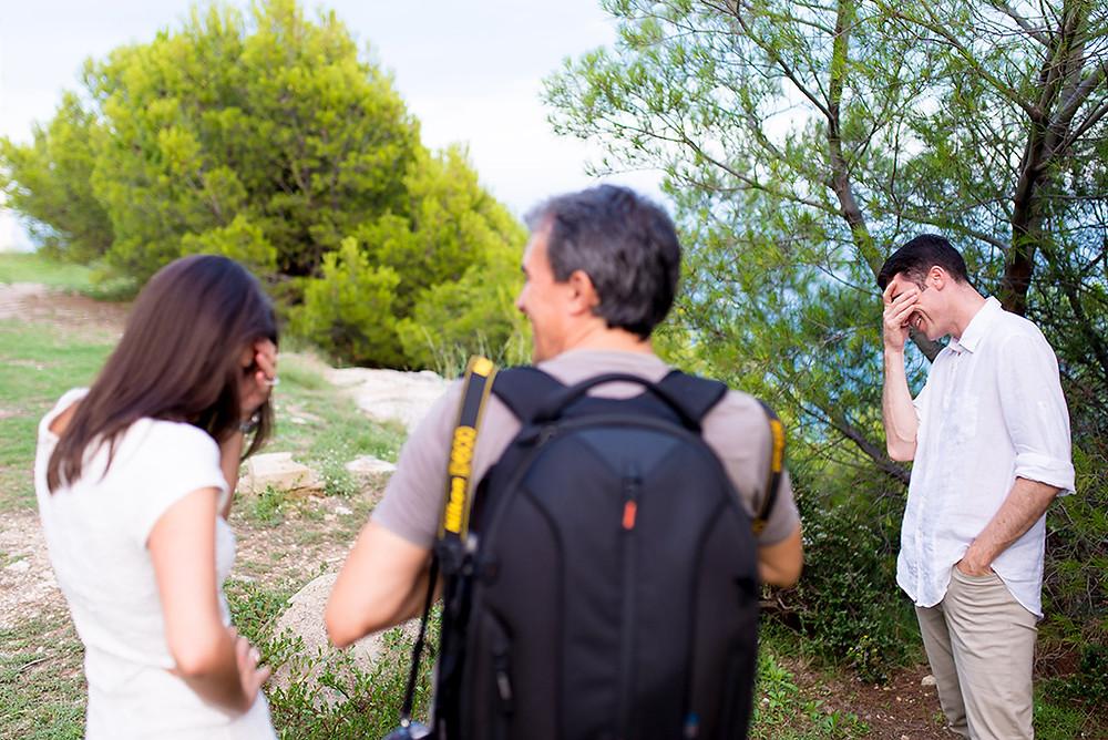 Risas con el fotógrafo