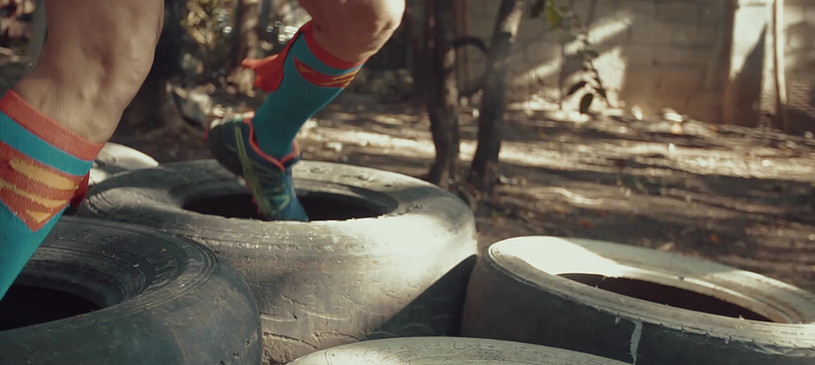 Activity: TOUGH MONKEY obstacle course feet in tire only.j