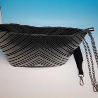 NEW! BIG Pochette/Bag multiuso con inserti rigidi, effetto metallizzato, in vari colori. Accessori: fibbia e catenina per utilizzarla come borsa.