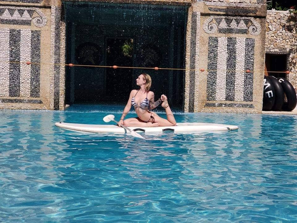 Paddle Board Yoga during students free time