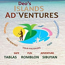 Deos island adventures Logo for sponsors