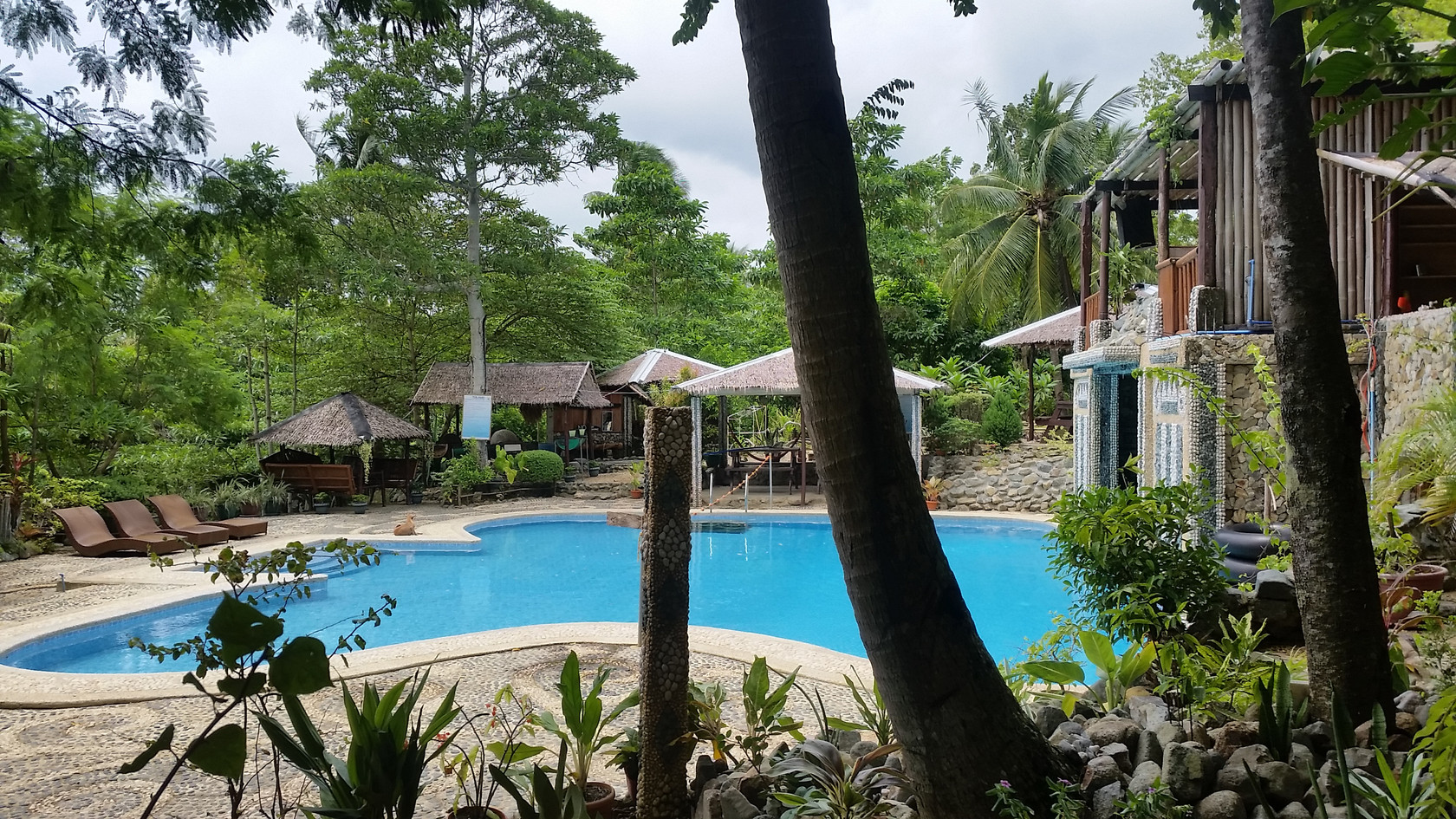 Cottage View of Pool