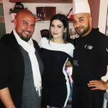 Celeste Thorson features Air Food restaurant on her Instagram