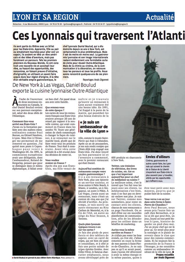 Le Progrès featured Claire Arnaud-Aubour