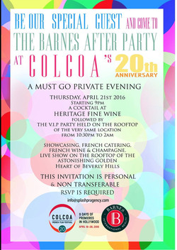 Colcoa Barnes After Party