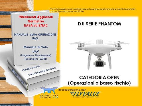 """""""SMART10"""" CONSULENZA OPERATORE OPEN BASSO RISCHIO E UAV """"DJI SERIE PHANTOM"""""""