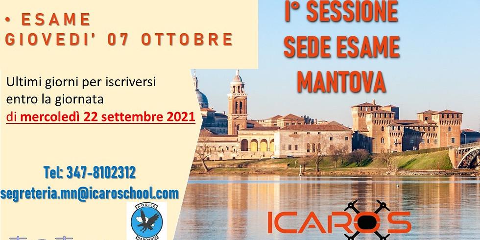 Prima sessione di esame nella sede di Mantova 07 OTTOBRE