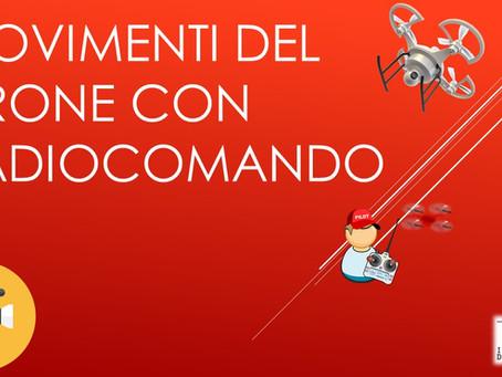 MOVIMENTI DEL DRONE CON RADIOCOMANDO
