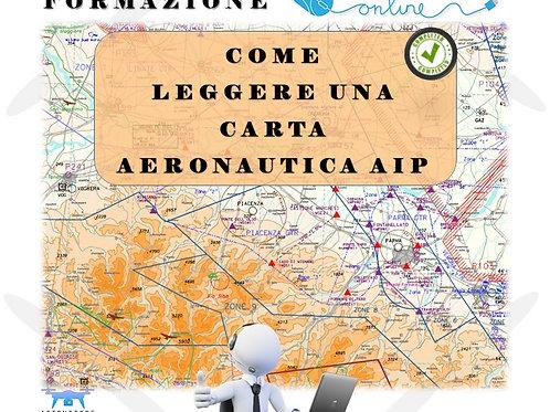 FORMAZIONE ONLINE COME LEGGERE UNA CARTA AERONAUTICA AIP
