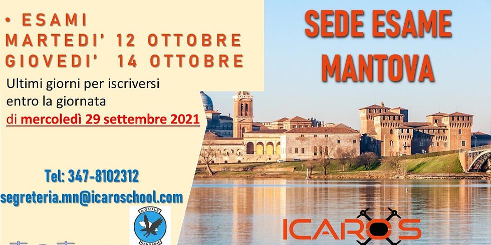 Sessioni di esame nella sede di Mantova 12-14 OTTOBRE