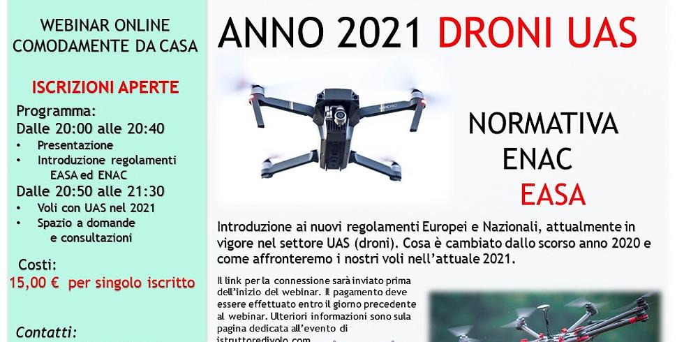 Nuova Normativa Easa Enac Uas (droni)