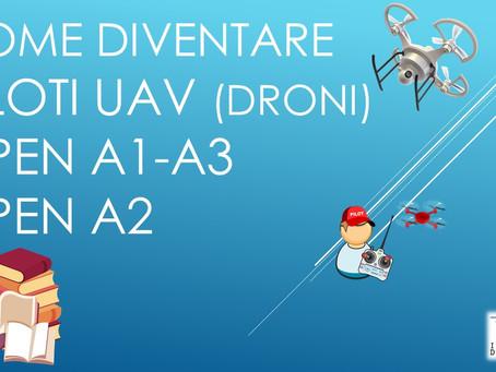 COME DIVENTARE PILOTI UAV (DRONI) OPEN A1-A3 e A2