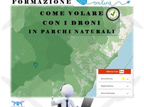 FORMAZIONE ONLINE COME VOLARE CON I DRONI IN PARCHI NATURALI